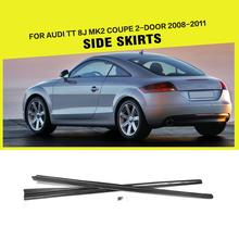 Car-Styling Carbon Fiber Racing Car Body Side Skirts Lip for Audi TT 8J Convertible Coupe 2-Door 2008-2011