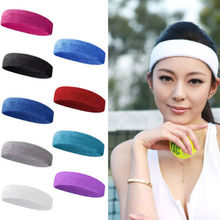 Hot  Fashion Women Men Sport Sweat Sweatband Headband Yoga Gym Stretch Head Band Hair
