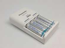 Panasonic Basic Charger + 4*Panasonic AAA 750mAh High Performance Ni-MH Battery Pre-charged Rechargeable Batteries,5set/lot