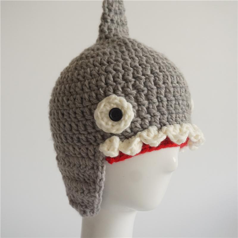 """""""Baby Shark"""" Shark Wool Hat for Children 4"""