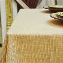 Botticing thick cotton hemp plain linen dining table cloth rectangle tablecloth coffee table cloth different sizes