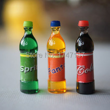 6pcs 1:12 Miniature Drink Coke Bottles Dollhouse Miniature Kitchen Pretend Play Food Toy(China)