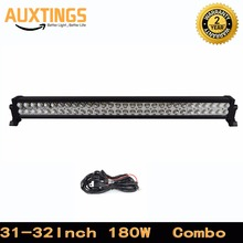"DISCOUNT!FREE SHIPPING 32""INCH 180watt combo led light bar car with wiring double rows led light bar offroad for crane led 180W"
