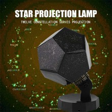 WOXOYOZO Novelty Romantic Rotatable LED Night Light Planetarium Astro Star Constellation Projector Celestial Cosmos Night Lamp