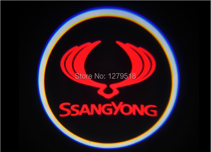 Car logo projector ghost shadow light Car door welcome light for Ssangyong Rexton Kyron Korando Actyon Rodius Chairman W Stavic<br><br>Aliexpress