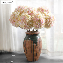 Artificial Hydrangea Silk Flower 1 big flower Bouquet Fleur Artificielle Flores Arrange Table Wedding Home Decor Party accessory