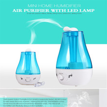 2016New Tabletop 3L Water Bottle Mini Home Ultrasonic Humidifier Air Purifier with LED Lamp Air Rreshener Support Wholsale
