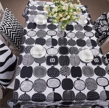 Geometric Black And White Table Cloth Oxford Tablecloth For The Table Rectangle Table Cover 140x260cm 3 Sizes Available