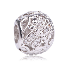 dodocharms New Silver Color Dragonfly Meadow Openwork Charms Fit Original Pandora Beads Bracelet For Women DIY Jewelry Making