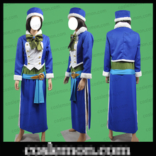 Fairy Tail Juvia Lockser Blue Long Sleeve Custom Made Uniforms Cosplay Costume Free Shipping