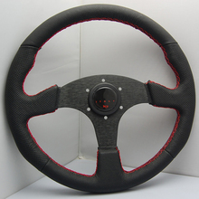 14 inch Modified momo steering wheel pvc leather steering wheel automobile racing steering wheel
