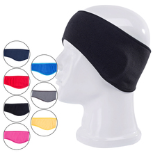Unisex Women Men Headwear Ear Warm Winter Head Band Polar Fleece Ear Muff Stretch Spandex Hair Band Accessories(China)
