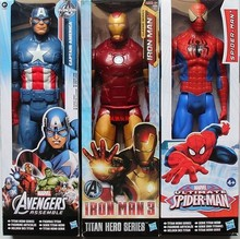 30cm Spiderman iron man Assemble Titan Hero Captain America PVC 3D Model 11.8 inch Action Figure Doll Toys(China)