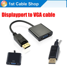 Gold-plated DP Displayport to VGA converter adapter cable Displayport input to VGA output(China)