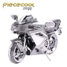 PieceCool 3D Metal Puzzle Jigsaws of Motorcycles jigsaw Mini 3D Model Kits from Laser Cut Metal Sheets for Adult Toys Gift(China)