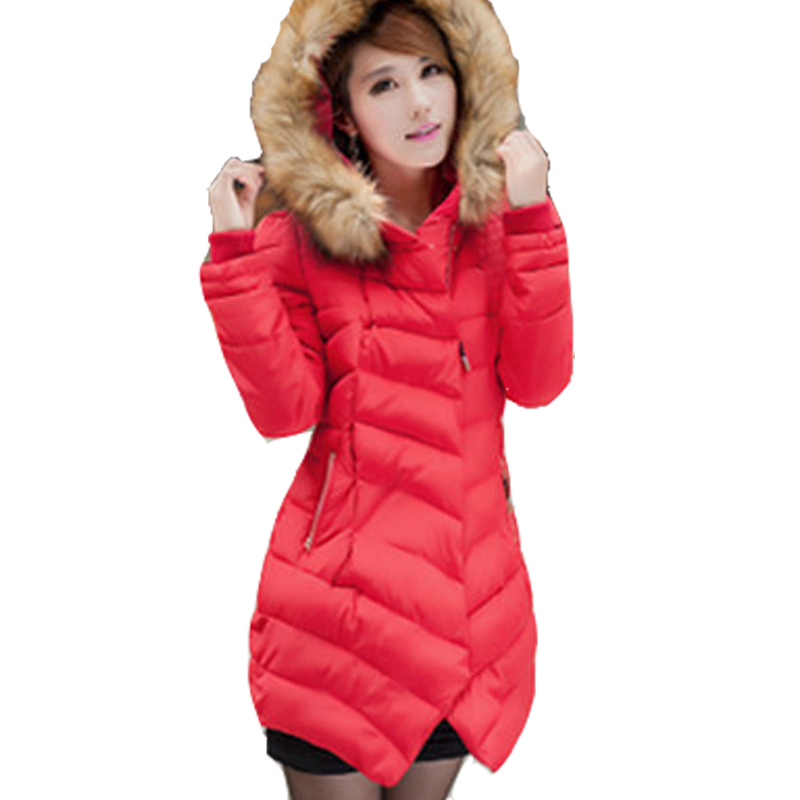 Winter Jacket Women Coat Cotton padded Parkas New Brand Fashion Slim Hooded Style With Fur Collar Parkas Plus Size High QualityОдежда и ак�е��уары<br><br><br>Aliexpress
