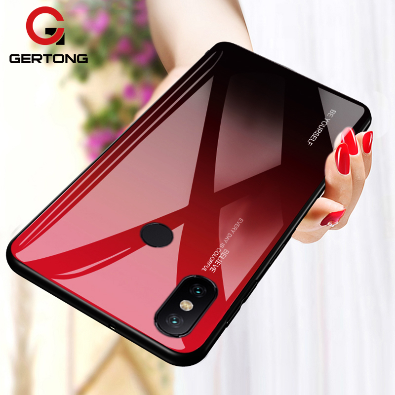 For Xiaomi Redmi Note 5 6 7 Pro 6A Case Gradient Tempered Glass Cover For Xiaomi Mi 8 A2 Lite A1 9 Mi8 Mi6 Mi9 Pocophone F1 Case(China)