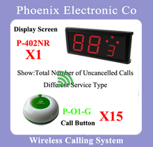 Restaurant Waiter Call System Can Show Different Service And Coming Calls Number, Stable Performance(China)