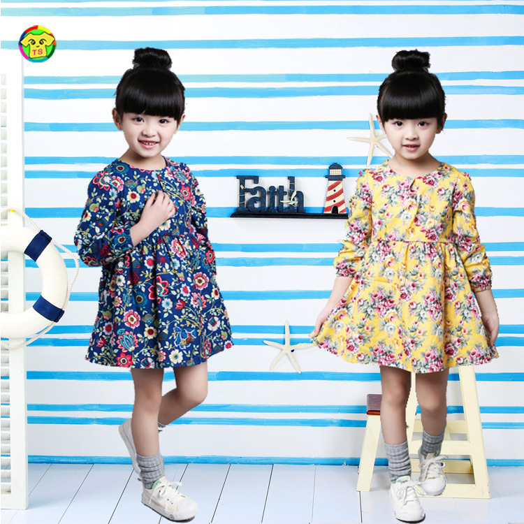 Anlencool 2017 Childrens spring Dress Girls floral dress small children Korean fashion princess dress factory baby clothing<br><br>Aliexpress