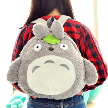 My Neighbor Totoro Cute Green Leaf Furry Plush HandBag Backpack Bag School Bag