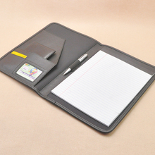 A4 office conference file folder signature folder for documents with refill paper writing pad document bag on front cover 1262B(China)
