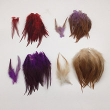 100 pcs 13 Colors Rooster feather 4-6'inch 10-15cm Pheasant chicken craft plume for hat party mask decoration