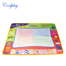 Coolplay 80x60cm New Baby drawing mat with 2pcs magice pen/ water drawing rug/aquadoodle mat coloring toy for kids toys CP1307