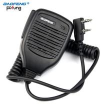 2 Pin PTT Speaker MIC Microphone For Walkie Talkie Ham Radio FM Transceiver TYT BAOFENG UV-5R UV-5RE BF-UVB2 Plus BF-888S GT-3