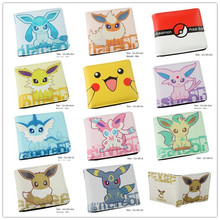 Pocket Monster Pokemon Wallet Kawaii Pikachu Poke Ball Wallet Leather Student Dollar Bag Card Purse For Teenager Boy Girl Gifts(China)