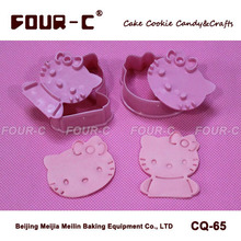Hello Kitty cookie cutters plastic biscuit cutters children love cute cupcake cookie dessert DIY cutter tools