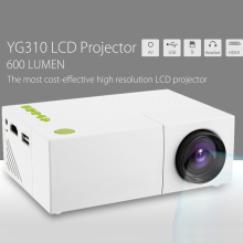 YG310 Mini Portable LCD Projector 1080P HD Resolution Multimedia LED Projection Apparatus  LED home Cinema