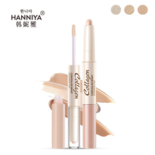 NEW Double Head Concealer pen Face Foundation Makeup Natural Cream Concealer Highlight Contour Stick Cover freckles Concealer(China)