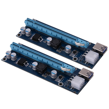 USB 3.0 PCI-E Express 1x 4x 8x 16x Extender Riser Card Adapter SATA 15Pin Male to 6Pin Power Cable for BTC bitcoin mining device