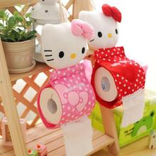 1pcs 30*13cm 2Colors Plush Stuffed TOY DOLL Pendant Hello KITTY Home Bathroom Tissue Case Box Container Napkin BAG Holder BOX