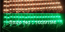 Free Shipping! 200pcs/lot DC12V Super Bright SMD5050 RGB LED Module Light 3leds/piece IP65-Waterproof 0.72W for Advertising