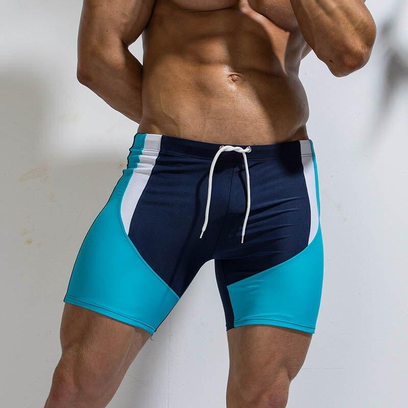 CharmLeaks Men Swimming Boxer Trunks Sports Swim Boardshorts