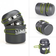 New Arrival Non-stick Pots Pans Bowls Portable Outdoor Camping Hiking Cooking Set Cookware