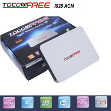 2pcs Tocomfree I928ACM with 2 WIFI antenna digital de tv dvb s2 receiver support H.265 work for Latin America(China)