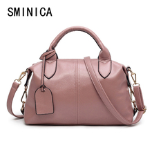 Boston women messenger bags female Imitation leather tote bag ladies leather handbags soft shoulder top-handle bag V3253