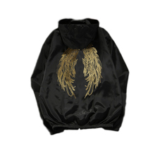Thin Single Layer Angel Wing Print Hooded Sun Protection Jacket Coat Hip Hop Windbreaker Jacket for Man Women Fashion Clothes