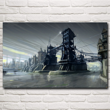Dishonored Video Game Art Silk Fabric Poster Prints Home Wall Decor Painting 12x19 15x24 19x30 22x35 30x48 Inch Free Shipping