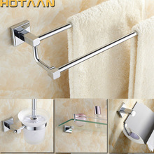 2017 Free shipping,Brass Bathroom Accessories Set,Robe hook,Paper Holder,Towel Bar,Soap basket,bathroom sets, chrome HT-811400-T