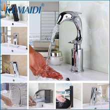 KEMAIDI Automatic Hands Touch Sensor Faucets Bathroom Brass Sink Chrome Faucets Mixers & Taps Basin Faucet Torneira Water Mixer(China)