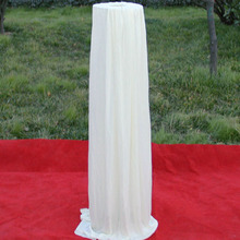 1.2 meter height White road lead cover for wedding decorations ice silk fabric cover for road lead event china supplier
