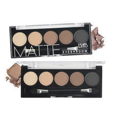 5 Color Brand Eyeshadow Palette Makeup Colorful Matte  Eyeshadow Lasting Eyeshadow Palette Maquillaje Make up Palette