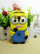 3D Minions Silicone Case Despicable Me Cover For Samsung Galaxy Trend Duos 2 s7562 7562 7582 / Trend Plus S7580 / S3mini i8190