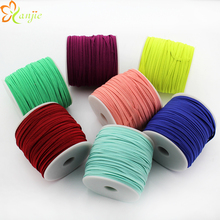 DHL shipping 12rolls 30colors 1/8 Skinny Elastic 3mm Width 50yards/roll DIY Kids Headbands Hair Accessories YOU PICK COLORS