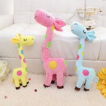 "New Hot Cute Large size Giraffe Soft Stuffed animals Plush Toy Doll , 55cm=21.7"" Kids Giraffe toy Children Birthday Gifts(China)"