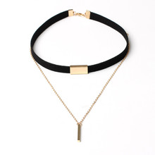 Harajuku Charm Woman Velvet Chain Bar Chokers Necklace Elegant Retro female Collar Party Jewelry Neck accessories 2colors(China)