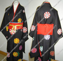 Free shipping Custom cheap Ai Cosplay Costume (Kimono) from Hell Girl(China)